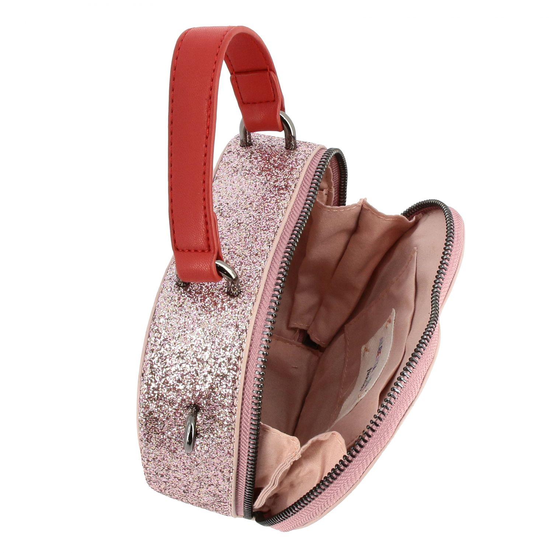Borsa Alberta Ferretti Junior: Borsa Alberta Ferretti Junior glitter con ricamo Tomorrow rosa 3