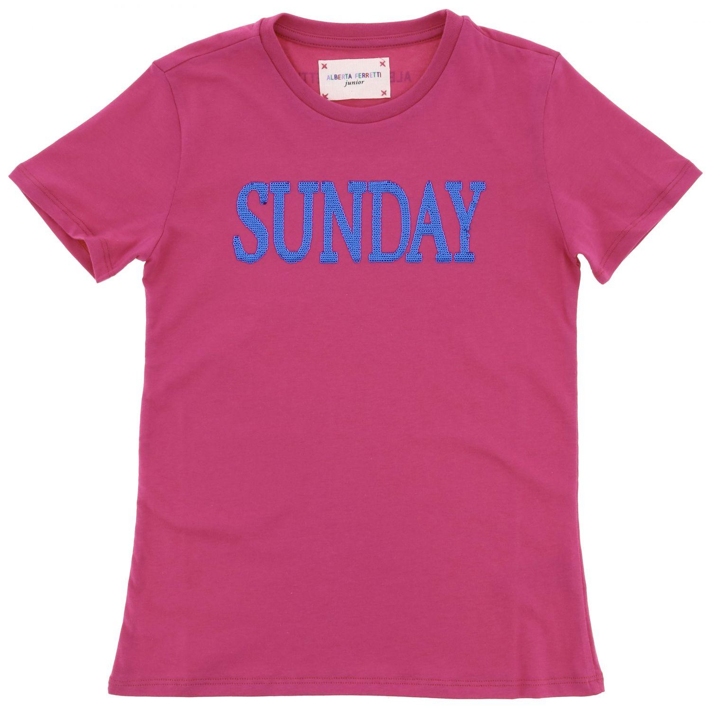 Camisetas Alberta Ferretti Junior: Jersey niños Alberta Ferretti Junior fucsia 1