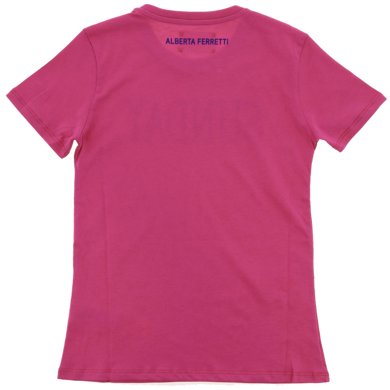 Camisetas Alberta Ferretti Junior: Jersey niños Alberta Ferretti Junior fucsia 2