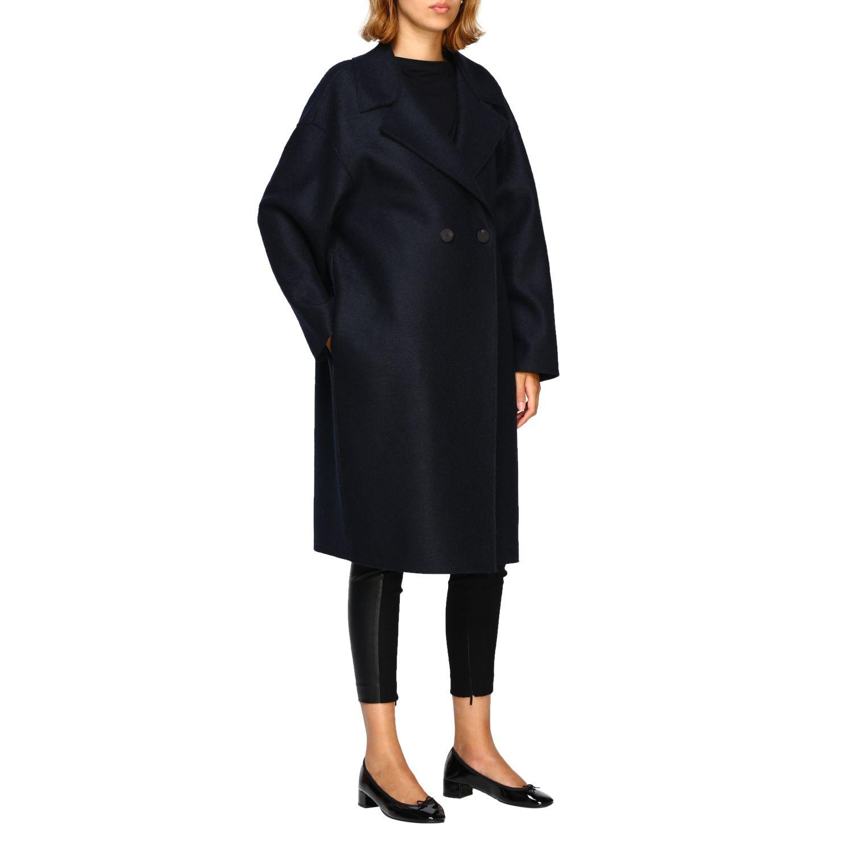 Coat women Harris Wharf London blue 1 2