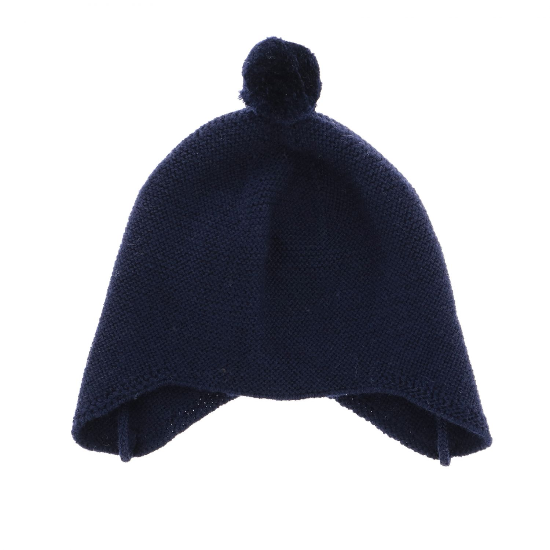 Cappello Paz Rodriguez con lacci e pompon blue 1