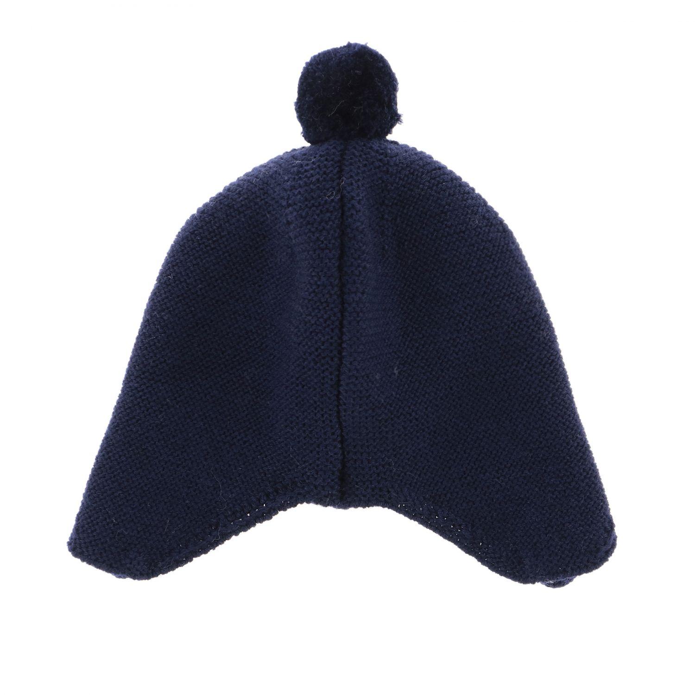 Cappello Paz Rodriguez con lacci e pompon blue 2