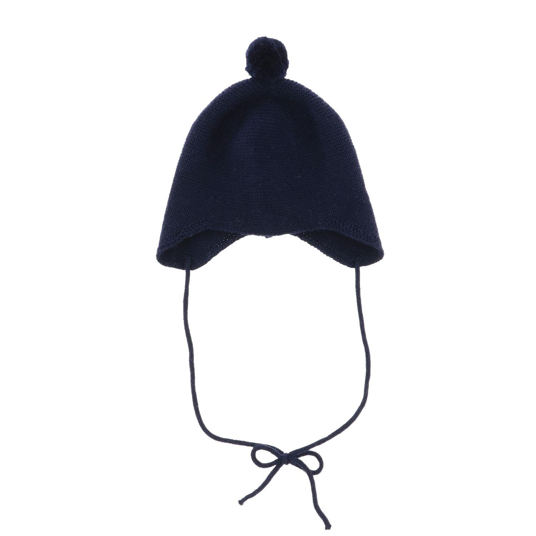 Cappello Paz Rodriguez con lacci e pompon blue 3