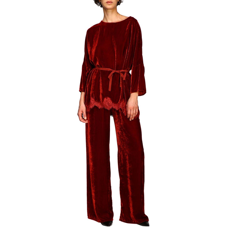 Pantalon femme Pink Memories rouge 2