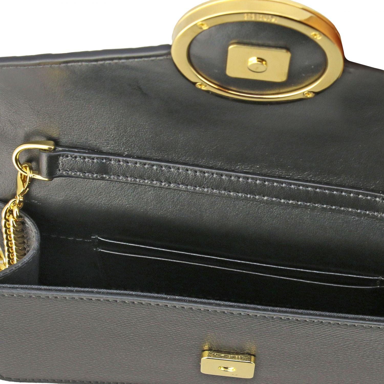 Мини-сумка Fendi: Поясная сумка Fendi из кожи с логотипом табачный 6