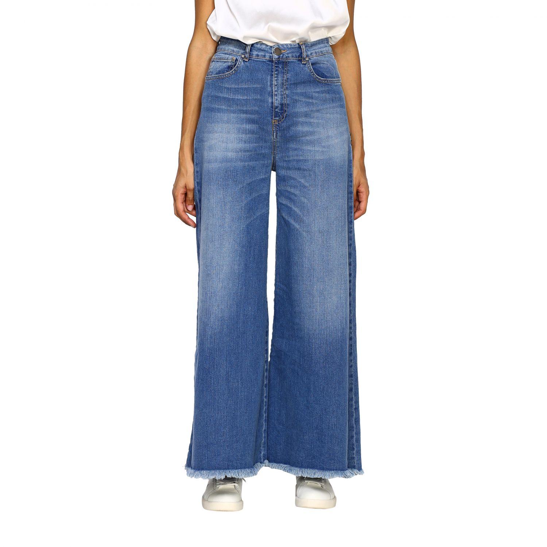 Jeans femme Federica Tosi bleu 1