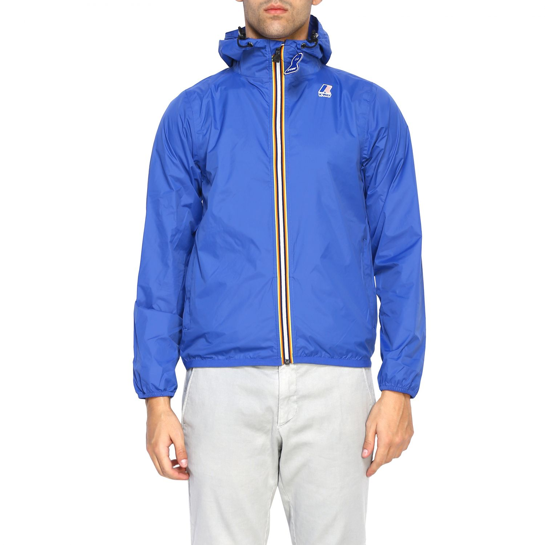 Coat men K-way royal blue 1