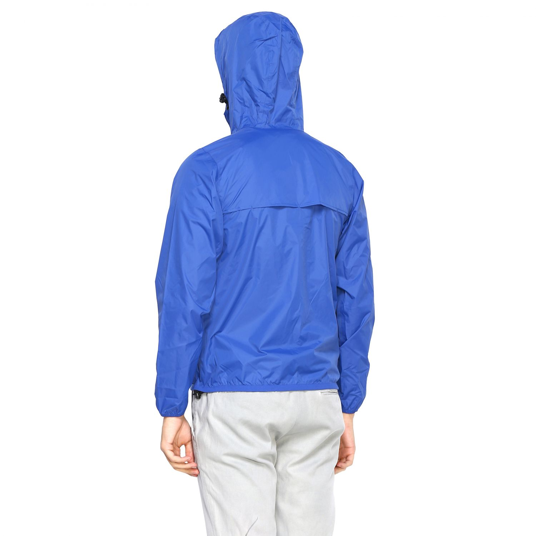 Coat men K-way royal blue 3