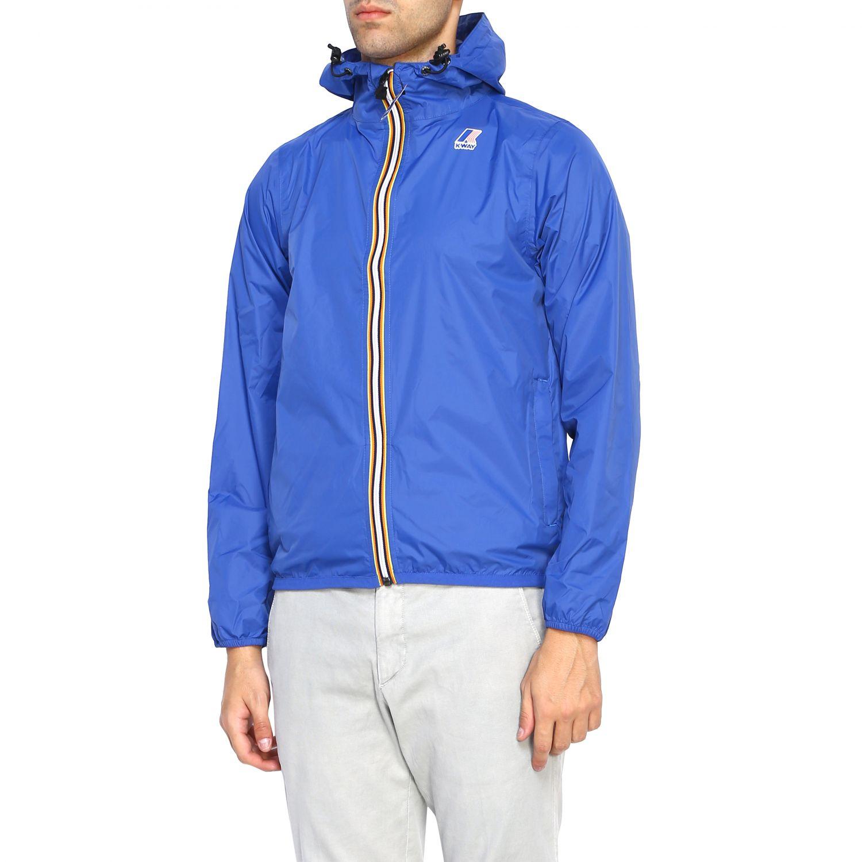 Coat men K-way royal blue 4