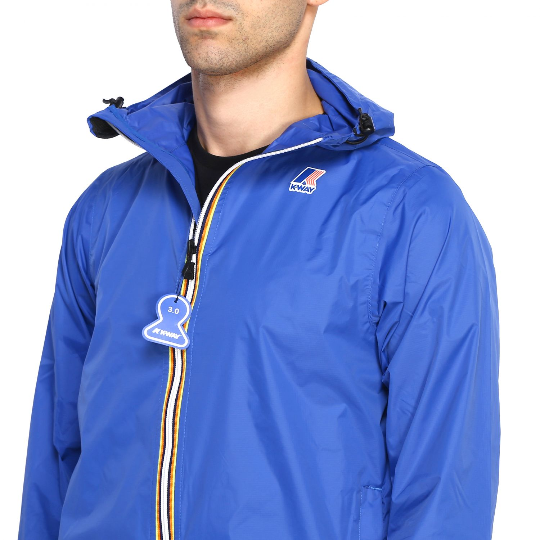 Coat men K-way royal blue 5