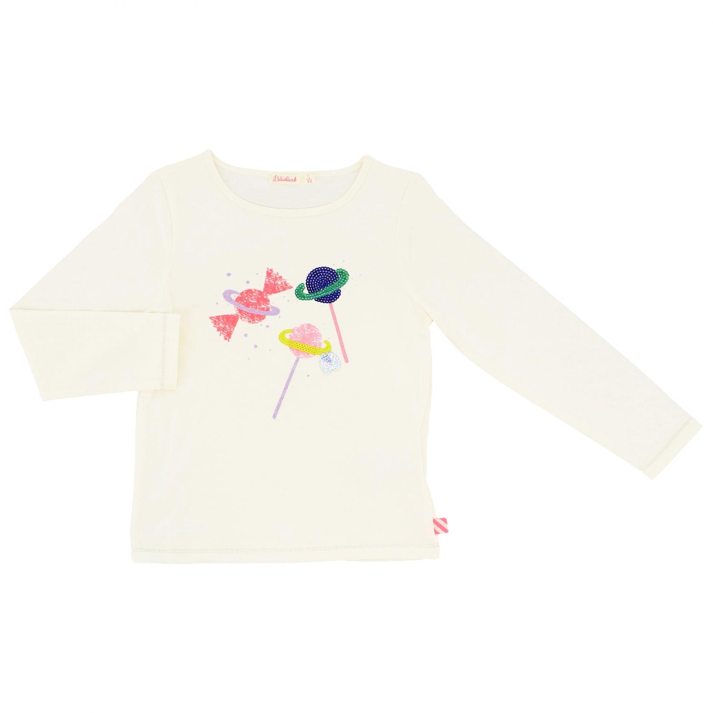 T-shirt Billieblush a maniche lunghe con stampa avorio 1