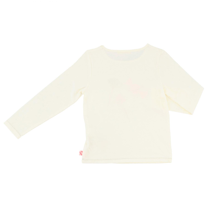 T-shirt Billieblush a maniche lunghe con stampa avorio 2