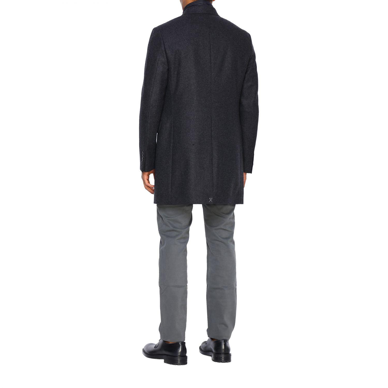 Cappotto Fay classico con pettorina in nylon antracite 3