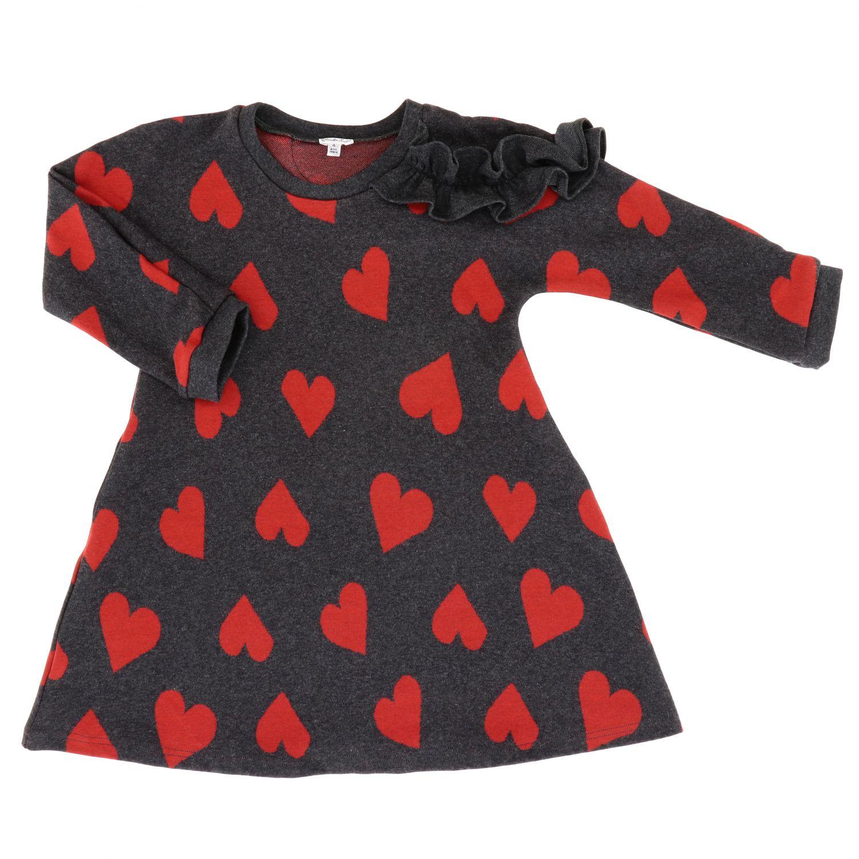 Kleid Piccola Ludo: Kleid kinder Piccola Ludo grau 1