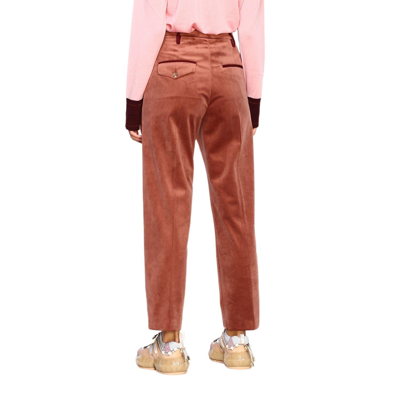Pantalone Golden Goose: Pantalone Golden Goose classico a vita alta marrone 3