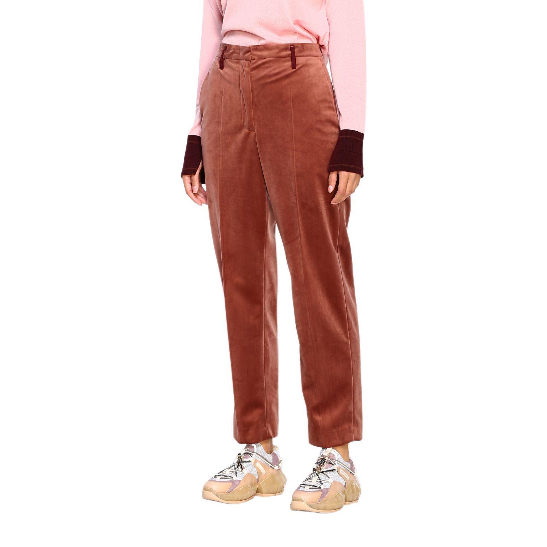 Pantalone Golden Goose: Pantalone Golden Goose classico a vita alta marrone 4