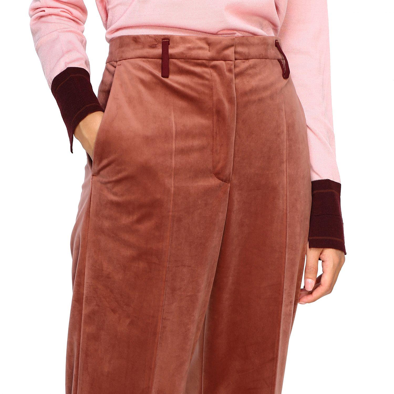 Pantalone Golden Goose: Pantalone Golden Goose classico a vita alta marrone 5