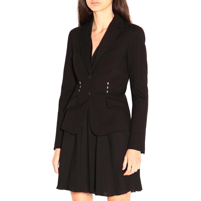 Блейзер Alberta Ferretti: Куртка Женское Alberta Ferretti черный 4