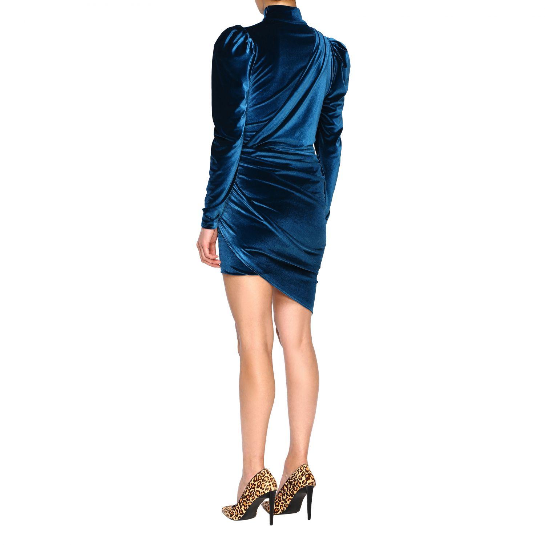 Vestido Alexandre Vauthier: Vestido mujer Alexandre Vauthier azul oscuro 3