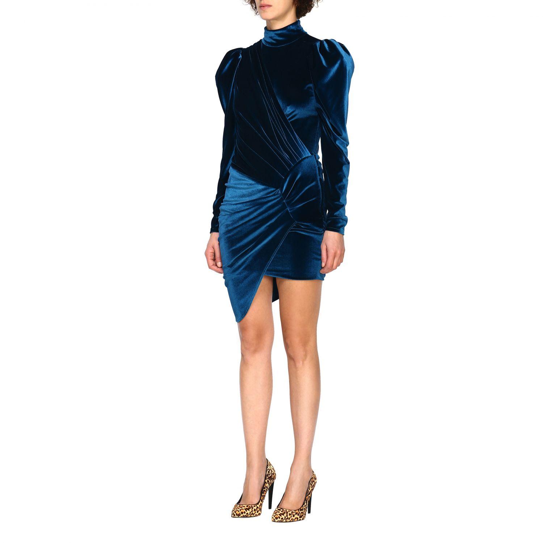 Vestido Alexandre Vauthier: Vestido mujer Alexandre Vauthier azul oscuro 4