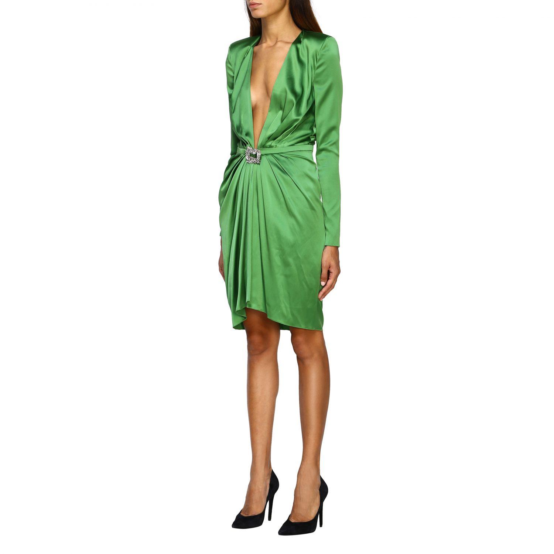 Vestido Alexandre Vauthier: Vestido mujer Alexandre Vauthier verde 3