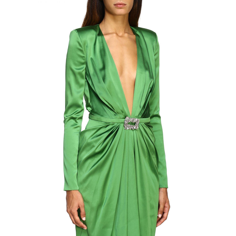 Vestido Alexandre Vauthier: Vestido mujer Alexandre Vauthier verde 4