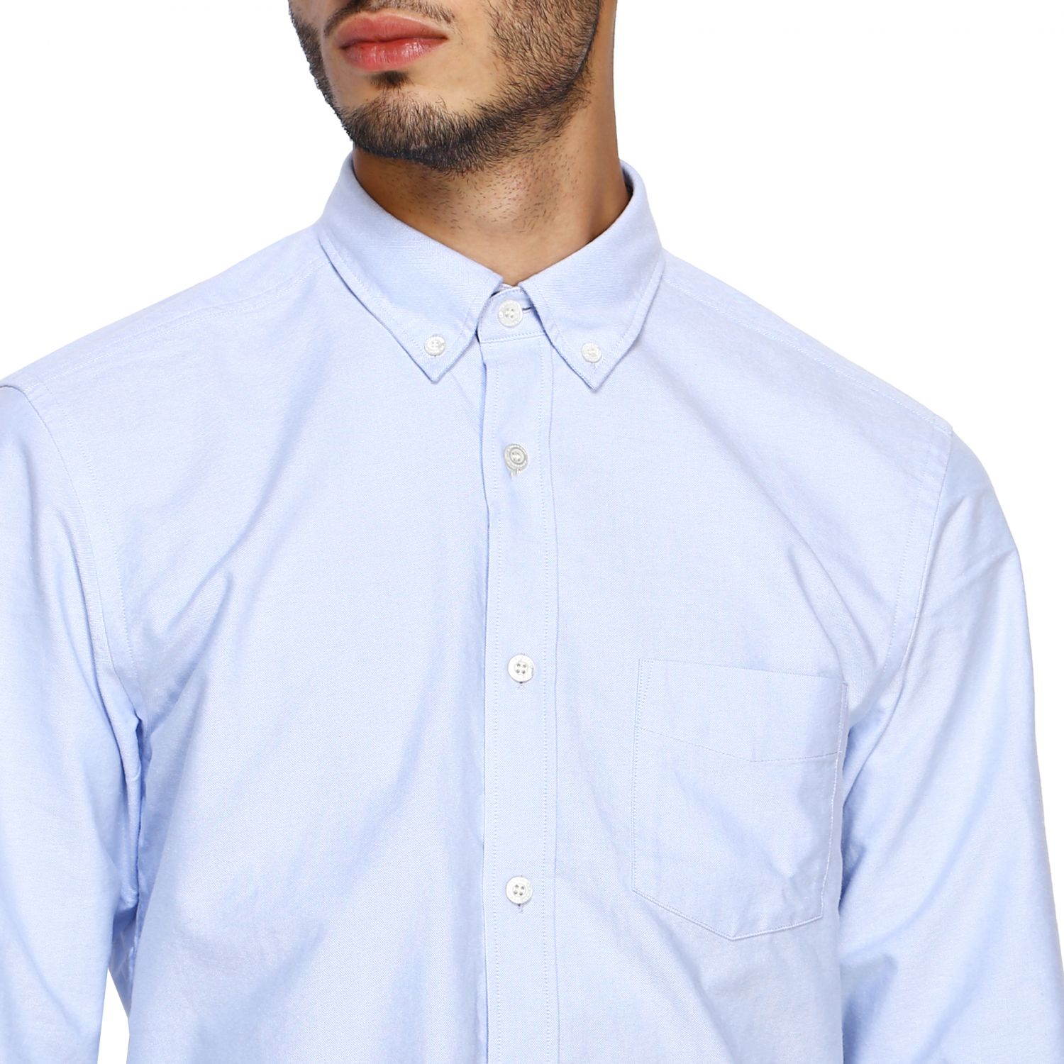 Shirt Burberry: Shirt men Burberry sky blue 5