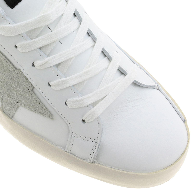 Sneakers Superstar Golden Goose in camoscio e pelle oro 4
