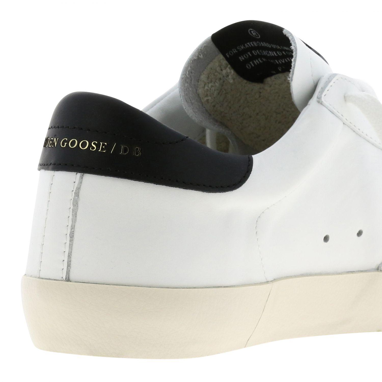 Sneakers Superstar Golden Goose in camoscio e pelle oro 5