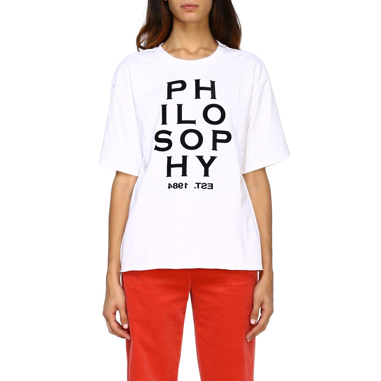T-Shirt Philosophy Di Lorenzo Serafini: T-shirt women Philosophy Di Lorenzo Serafini white 1