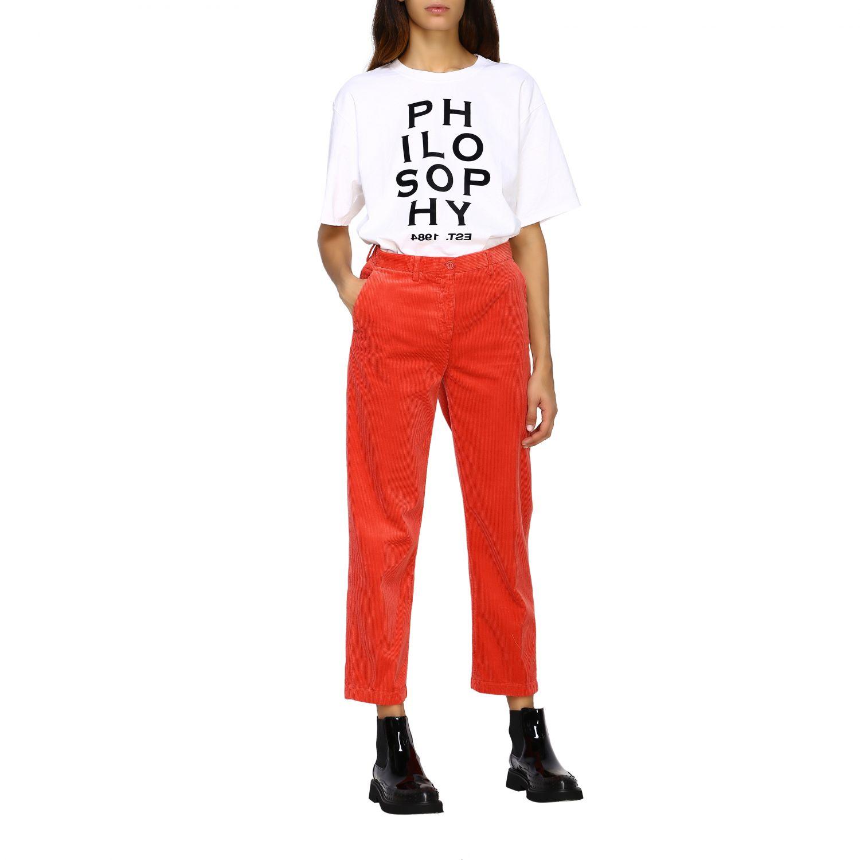 T-Shirt Philosophy Di Lorenzo Serafini: T-shirt women Philosophy Di Lorenzo Serafini white 2