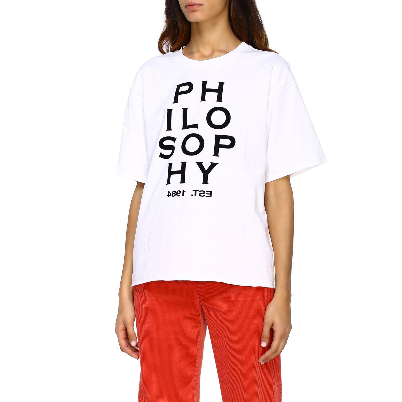 T-Shirt Philosophy Di Lorenzo Serafini: T-shirt women Philosophy Di Lorenzo Serafini white 4