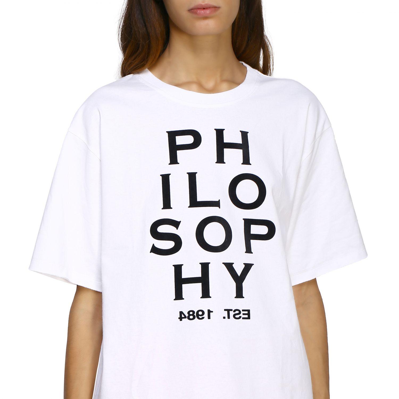 T-Shirt Philosophy Di Lorenzo Serafini: T-shirt women Philosophy Di Lorenzo Serafini white 5