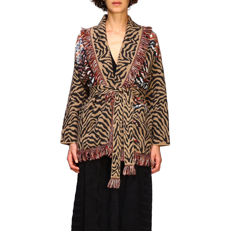 针织开衫 Alanui: 毛衣 女士 Alanui 棕色 1