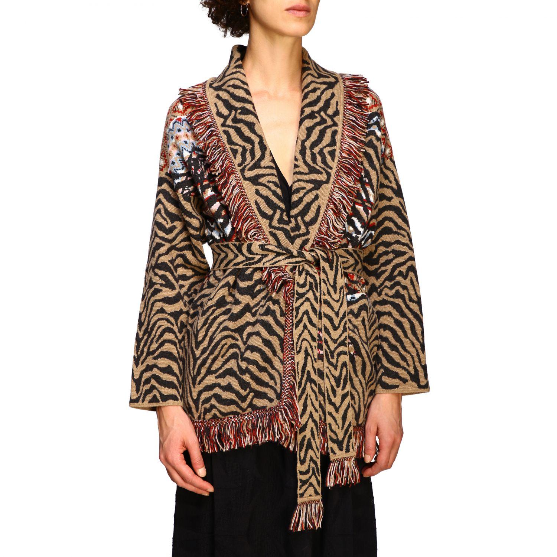 针织开衫 Alanui: 毛衣 女士 Alanui 棕色 5