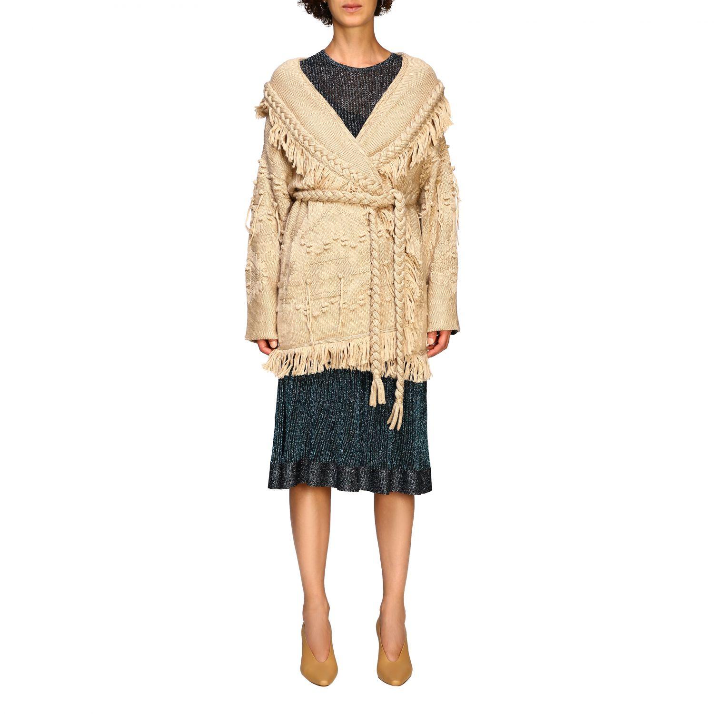 针织开衫 Alanui: 毛衣 女士 Alanui 米色 1