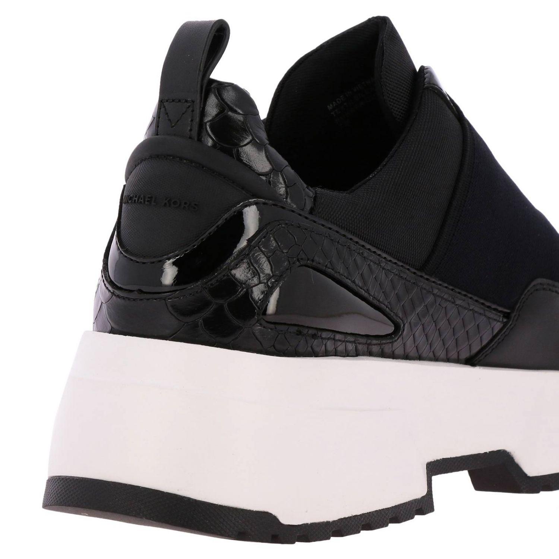 Sneakers Michael Michael Kors: Sneakers Michael Michael Kors in pelle e micro rete con maxi banda elasticizzata e logo nero 5