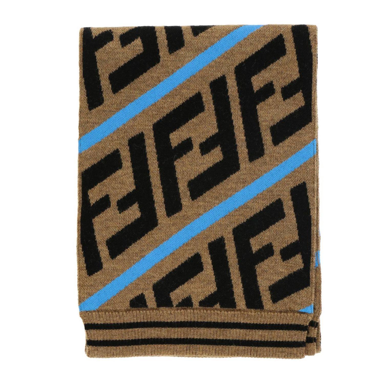 Шарф Fendi с монограммой FF многоцветный 1