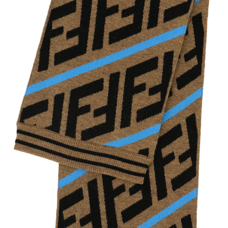 Шарф Fendi с монограммой FF многоцветный 3