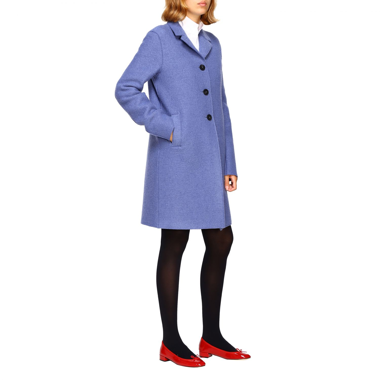 Coat women Harris Wharf London blue 2