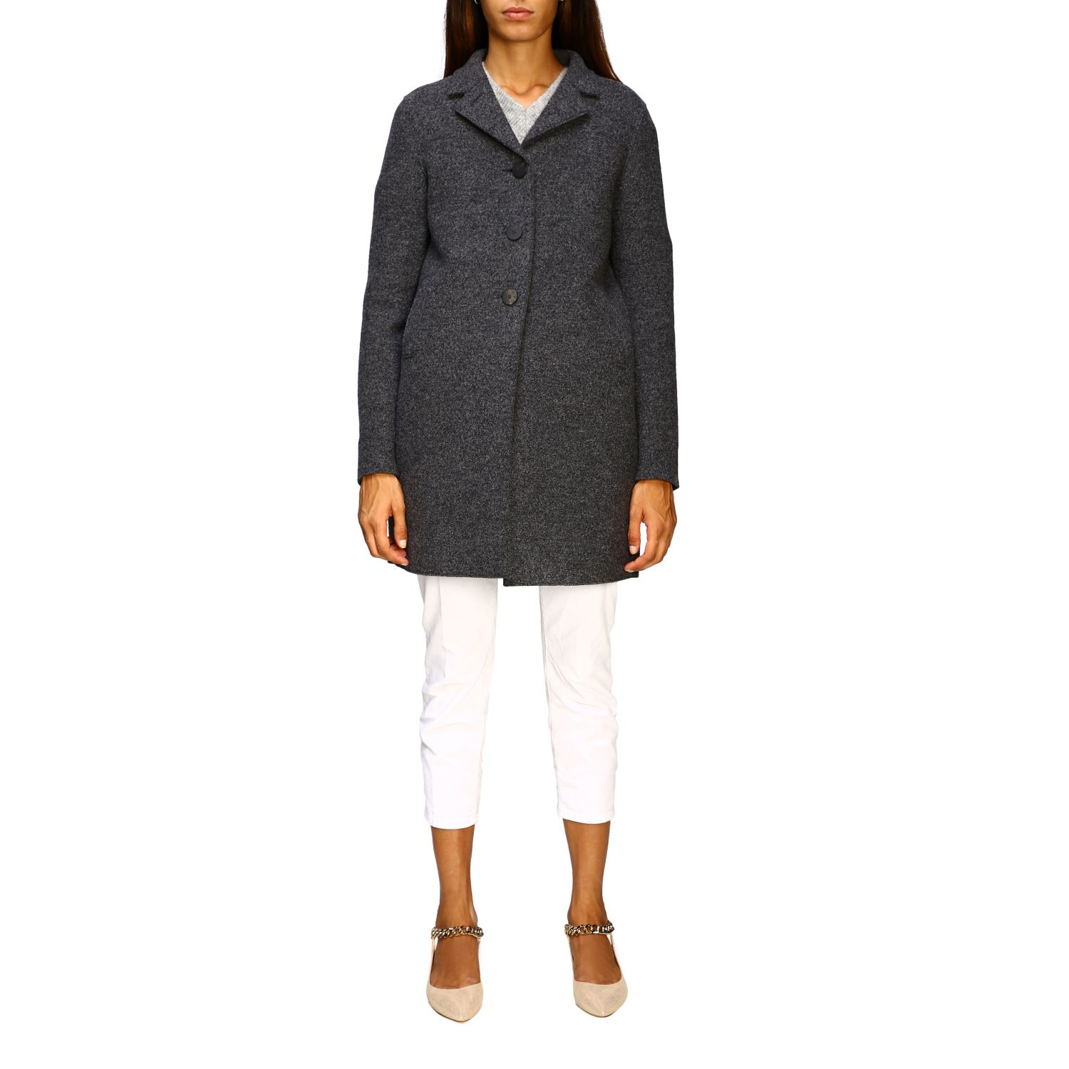 Coat women Harris Wharf London grey 1