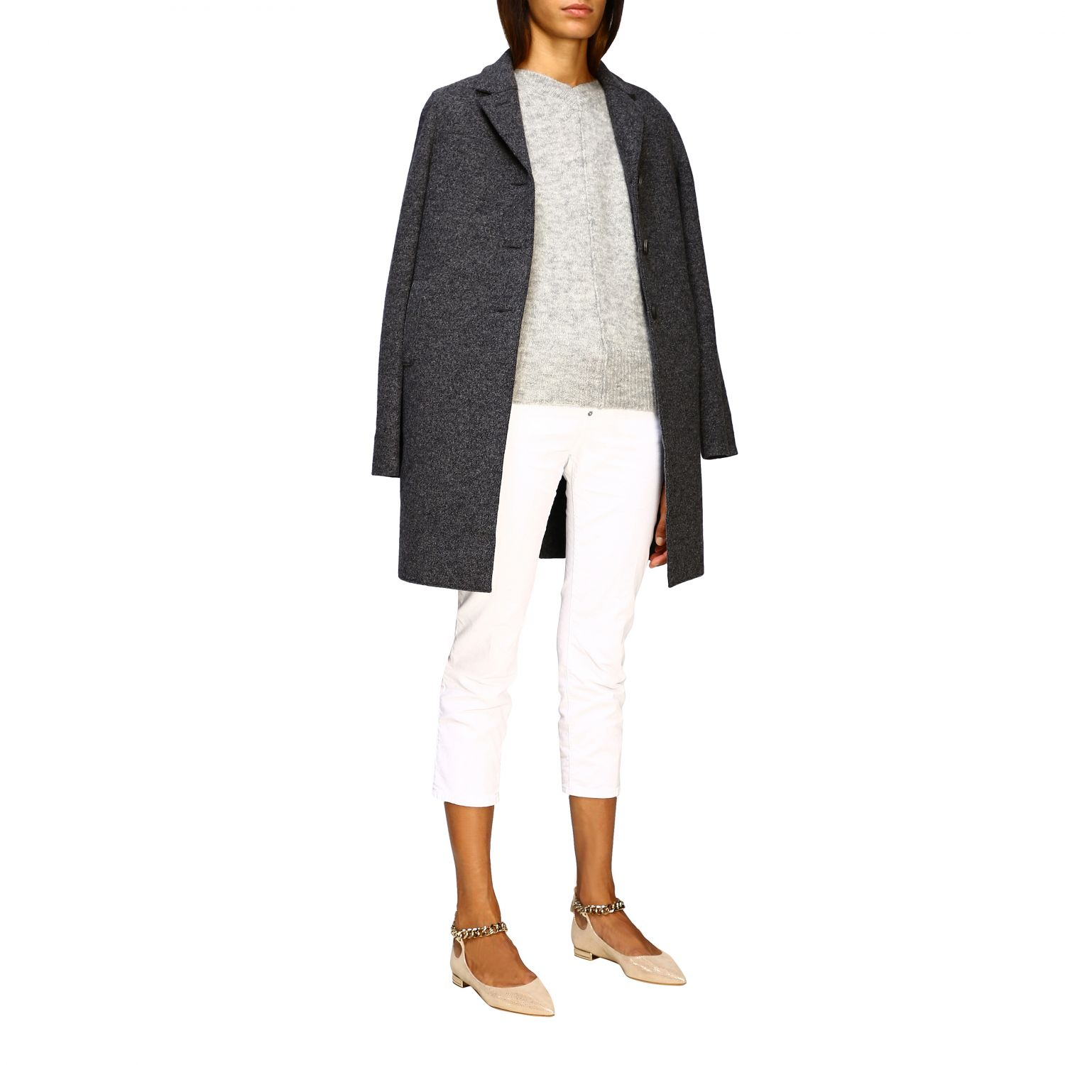 Coat women Harris Wharf London grey 2