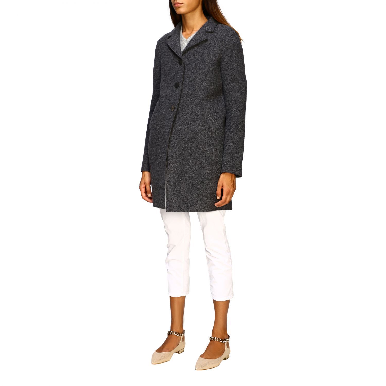 Coat women Harris Wharf London grey 4