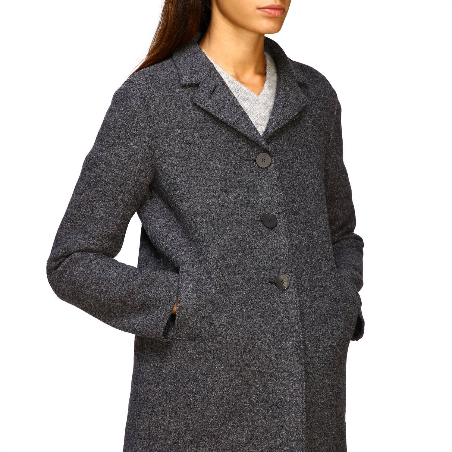 Coat women Harris Wharf London grey 5