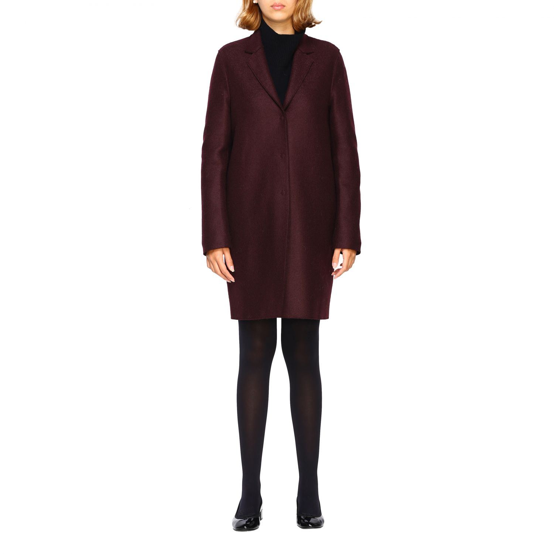 Coat women Harris Wharf London red 1