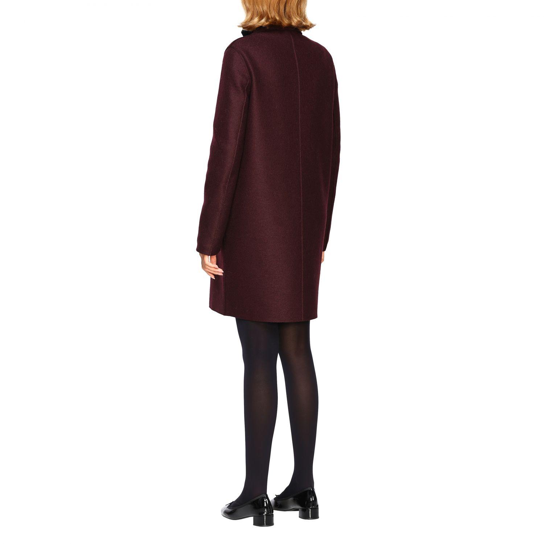 Coat women Harris Wharf London red 3