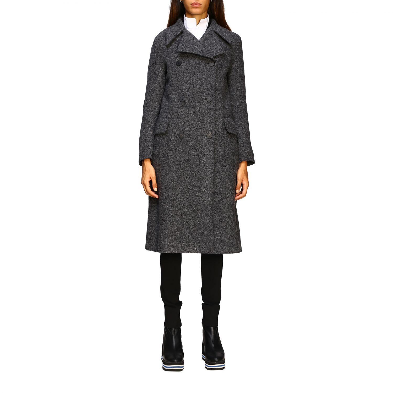 Manteau femme Harris Wharf London gris 1