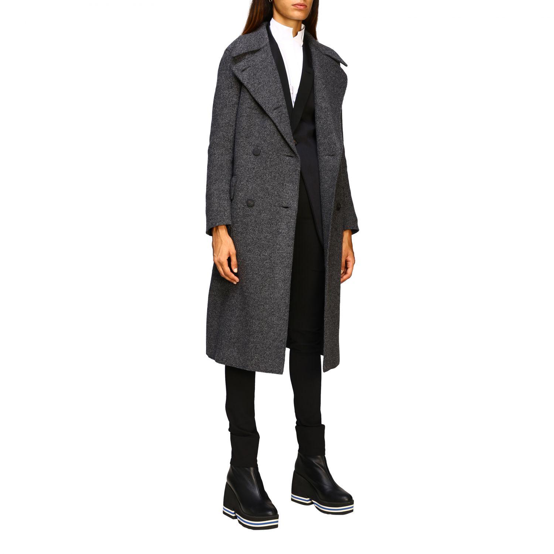 Manteau femme Harris Wharf London gris 2