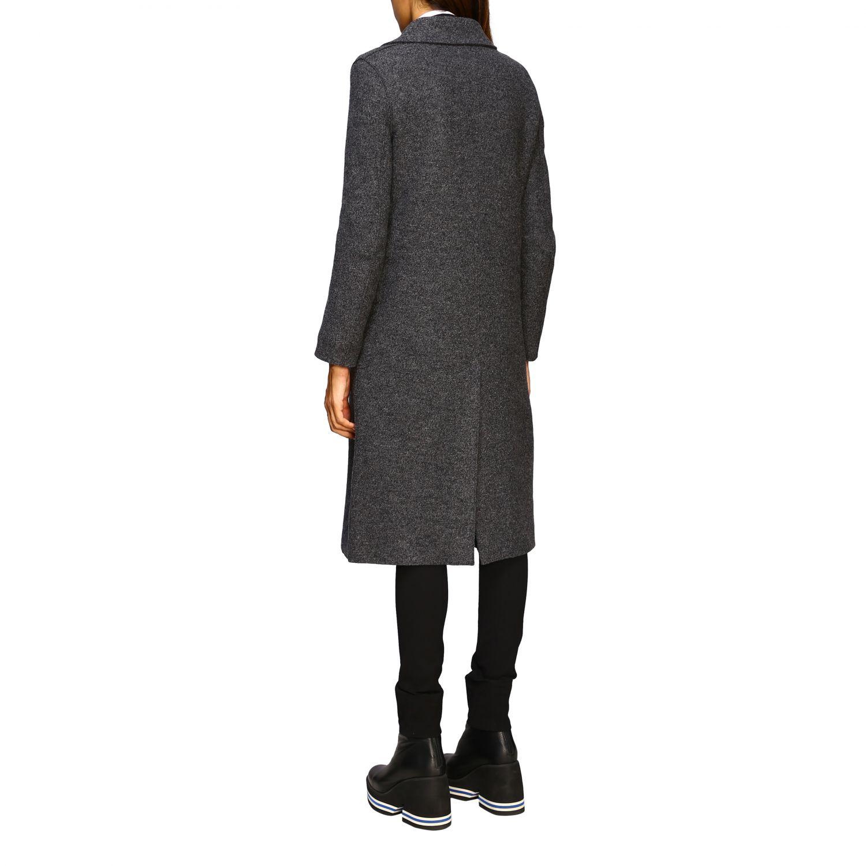 Manteau femme Harris Wharf London gris 3