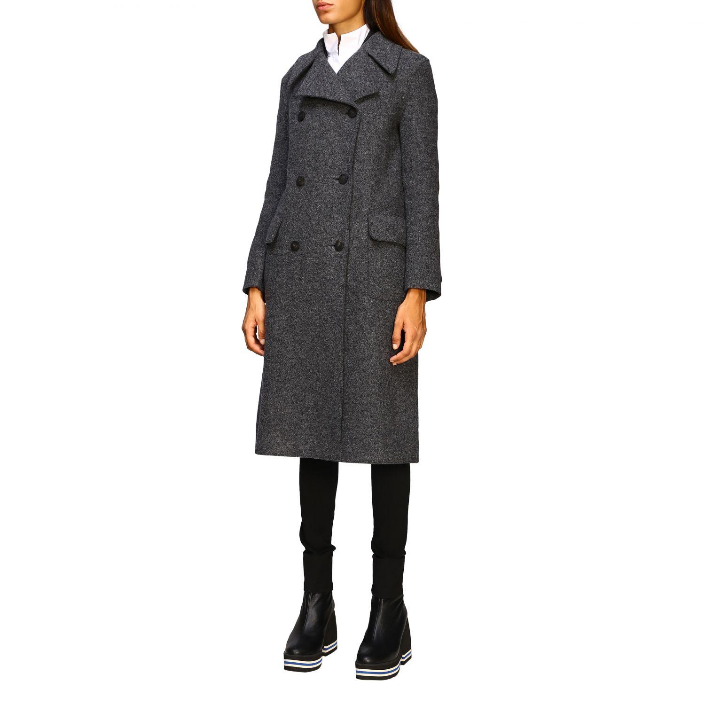 Manteau femme Harris Wharf London gris 4